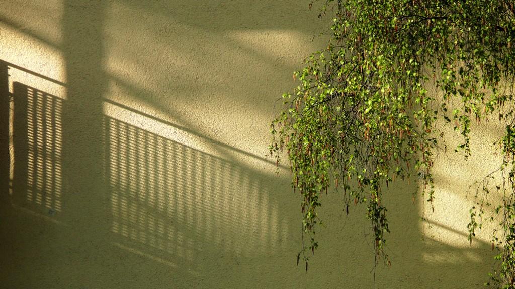 Schatten auf Hauswand