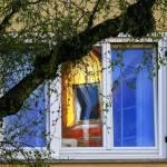 Fenster mit Spiegelungen