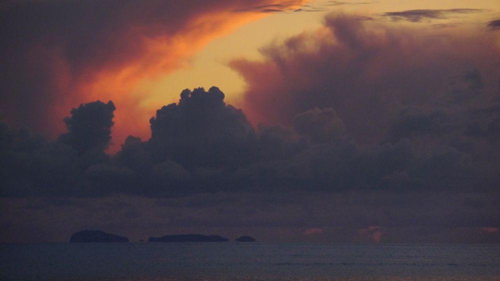 Insel in Abendstimmung